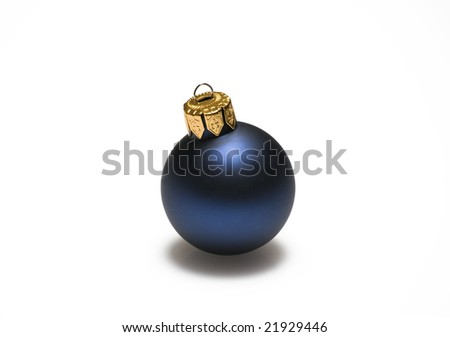 Christmas ball ornament on white background