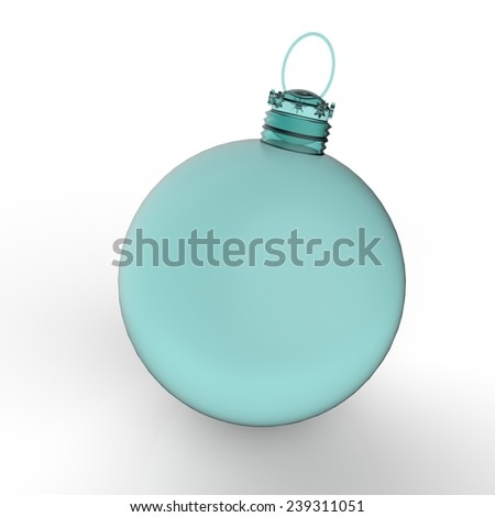 Christmas ball ornaments on white background