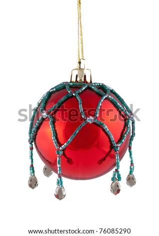 christmas ball over white background - stock photo