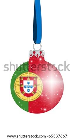 Christmas ball - Portugal - stock photo