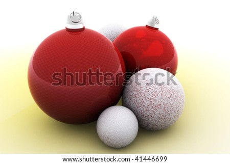 Christmas Ball - Red & White