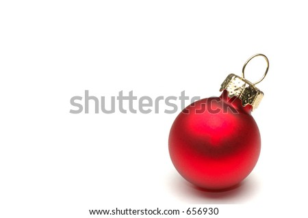 Christmas ball with copy space