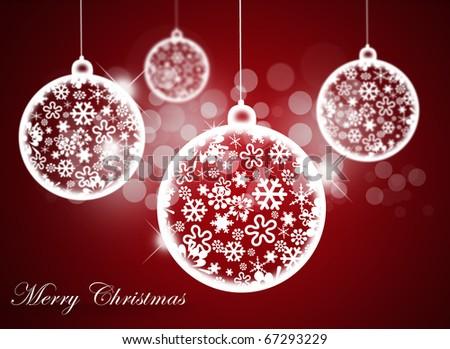 Christmas balls. - stock photo