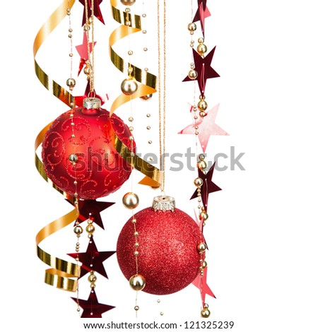 Christmas balls and decorations - stock photo