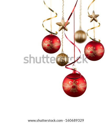 Christmas balls , christmas background. Christmas concept - stock photo