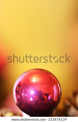 Christmas balls detail with background