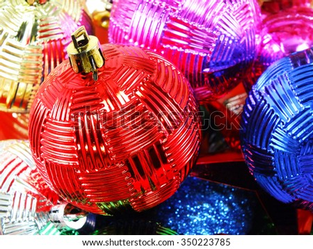 christmas balls for a christmas background