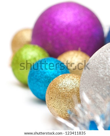 Christmas balls for decoration of various bright colors