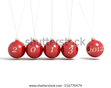 Christmas balls happy new year Newton pendulum 2012 - 2013