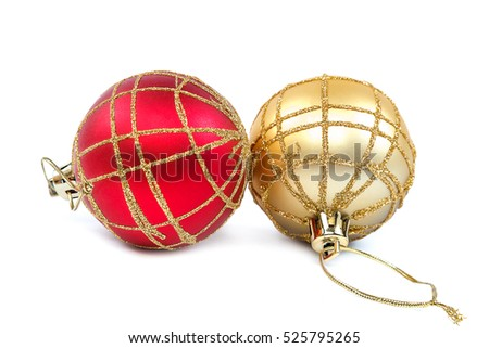 Christmas balls isolated on a white background.