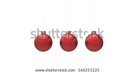 Christmas balls  isolated on white