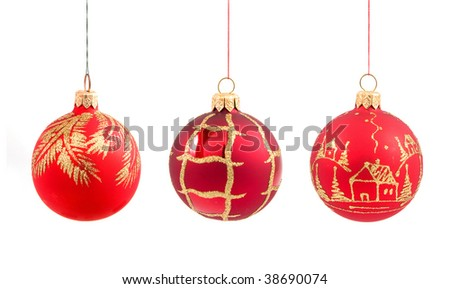 christmas balls on isolated
