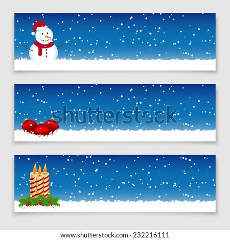Christmas banners. Vector available. - stock photo
