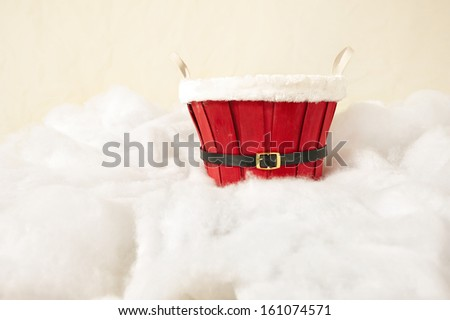 Christmas basket - stock photo