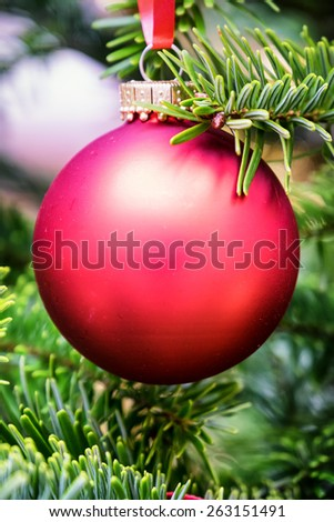 christmas bauble - christmas decoration - closeup - stock photo
