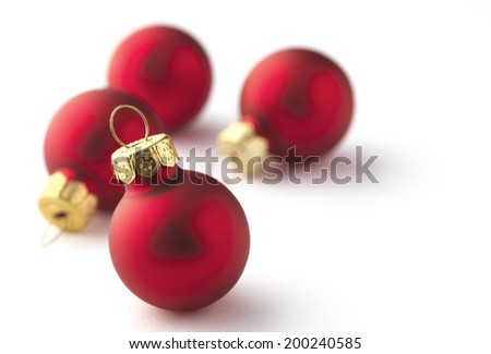 Christmas bauble Decoration with a short depth of field