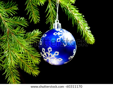 Christmas bauble on background tree ,Christmas tree ornaments,
