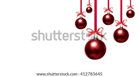 Christmas bauble on white - stock photo