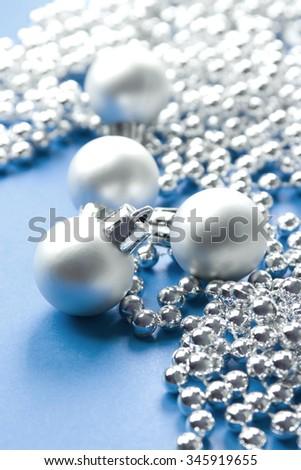 Christmas baubles glamorous  background - stock photo