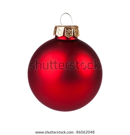 Christmas baubles isolated on white.Christmas decoration concept - stock photo