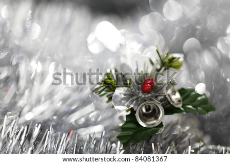 christmas bell on bokeh background - stock photo