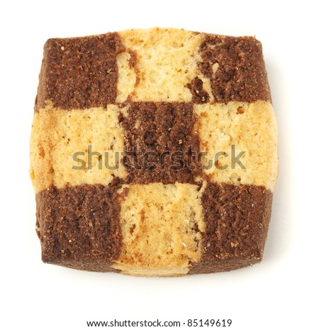 christmas biscuit isolated on a white background - stock photo