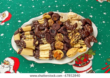 christmas biscuits from Czech Republic - stock photo