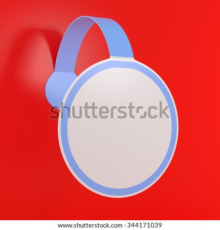 Christmas Blank Sticker Label Tag - 3d illustration