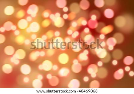 Christmas bokeh - abstract holidays pattern - stock photo