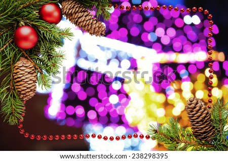 Christmas bokeh in abstract color background