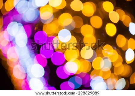 Christmas bokeh in abstract color background - stock photo