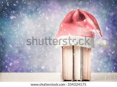 Christmas books - stock photo