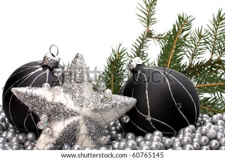 Christmas border. - stock photo