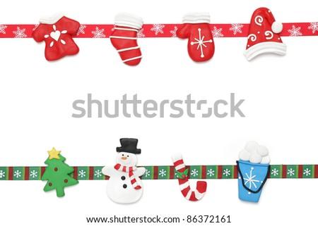 Christmas border - stock photo