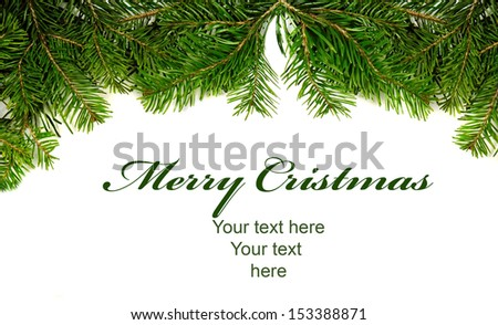 Christmas border card with space for your text  - stock photo