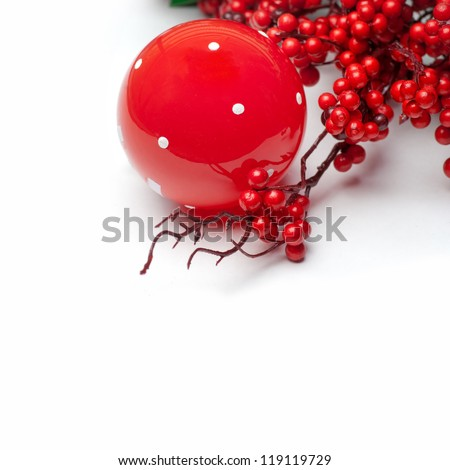 Christmas border design - stock photo