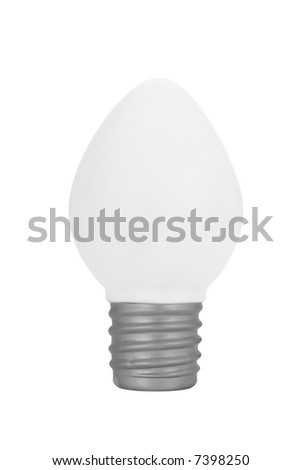 Christmas bulb ornament over a white background
