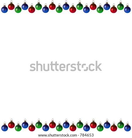 Christmas Bulbs Background/Frame - stock photo