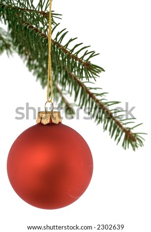 christmas bulbs hanging from the tree