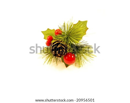 christmas bunch on white background - stock photo