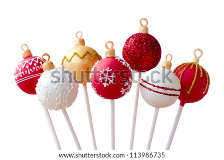 Christmas cake pops - stock photo