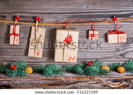 Christmas Calendar, gifts for advent