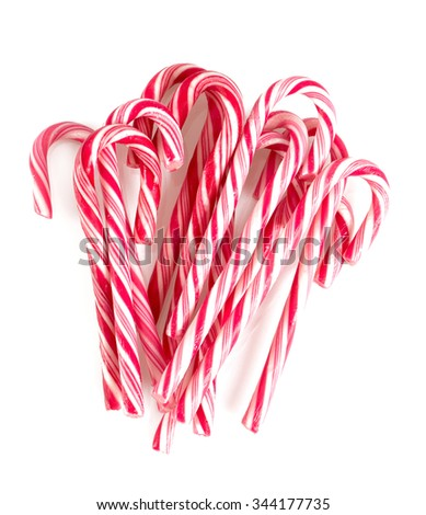 Christmas candies isolated on white - stock photo