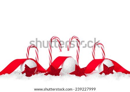 christmas candies isolated on white background. studio shot - stock photo