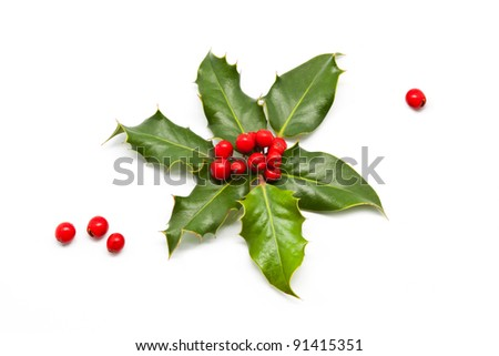 Christmas Candle and Fireplace - stock photo