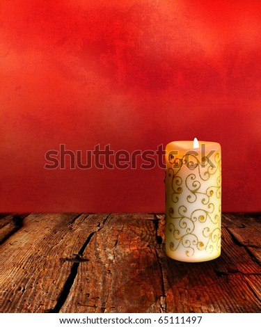 Christmas Candle Background - stock photo