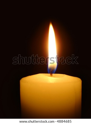 Christmas candle in portrait - stock photo