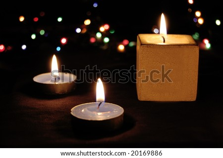 Christmas candle light and colors