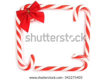 Christmas candy can isolated on a white - stock photo