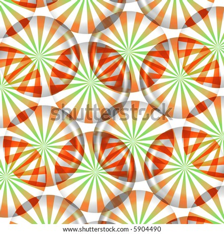 Christmas Candy Peppermints - stock photo